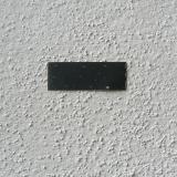 Embossed plastic label 1x4cm - Alfredo Eandrade