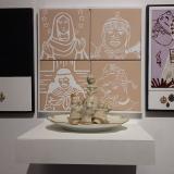 Glazed ceramics – China plate – Religious medals 50x150x40cm - Alfredo Eandrade